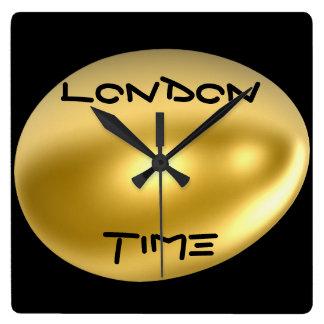ロンドン都市柱時計! スクエア壁時計