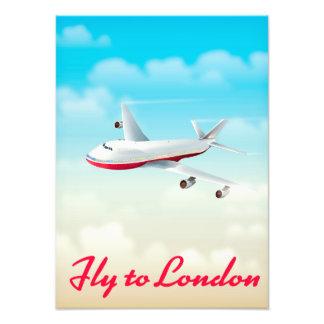ロンドン飛行機ポスターへのはえ フォトプリント