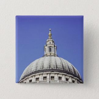 ロンドン、イギリスのセントポールのカテドラルのドーム 5.1CM 正方形バッジ