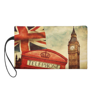ロンドン、イギリスの赤い電話ボックスそしてビッグベン リストレット