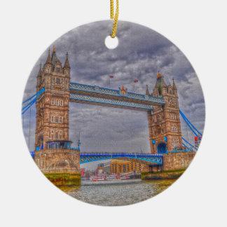 ロンドン、イギリスタワー橋及びThames川 セラミックオーナメント