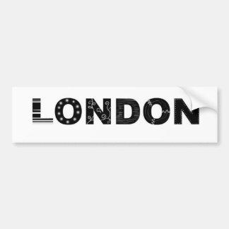 ロンドン バンパーステッカー