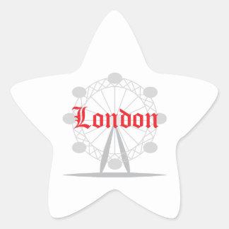 ロンドン 星シール