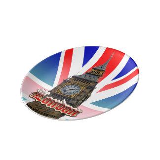 ロンドン 磁器プレート