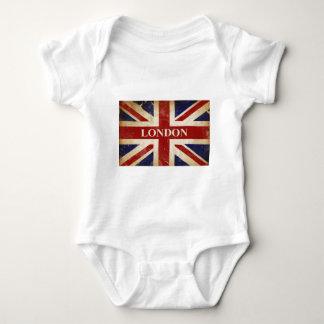 ロンドン-英国国旗- I愛ロンドン ベビーボディスーツ