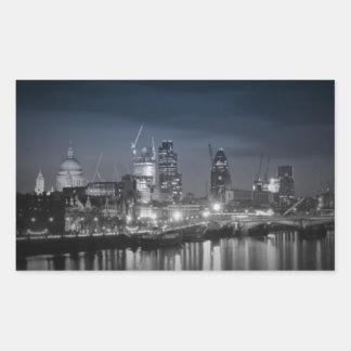 ロンドン 長方形シール