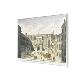 ロンドン、fr市のギルドホールの概観 キャンバスプリント