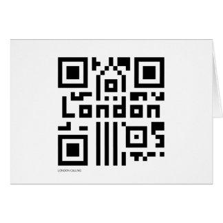 ロンドンQRコード カード