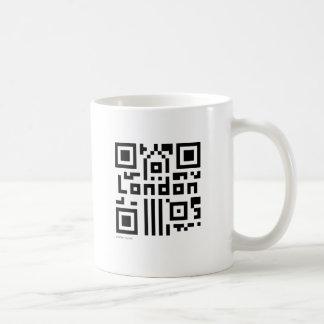 ロンドンQRコード コーヒーマグカップ