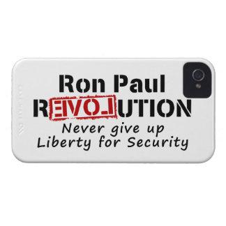 ロン・ポールの革命は決して自由をあきらめません Case-Mate iPhone 4 ケース