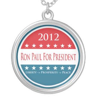 ロン・ポールの2012年のネックレス シルバープレートネックレス
