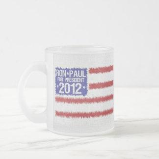 ロン・ポール2012のキャンペーンコーヒー・マグ フロストグラスマグカップ