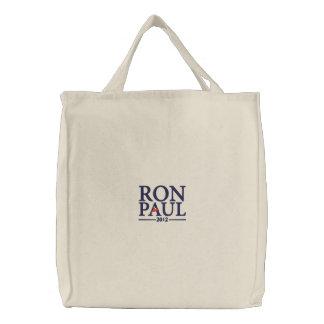 ロン・ポール2012の刺繍されたバッグ 刺繍入りトートバッグ