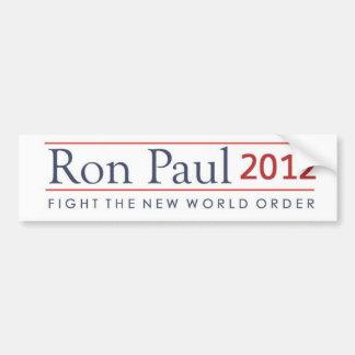 ロン・ポール2012の戦い新世界秩序 バンパーステッカー