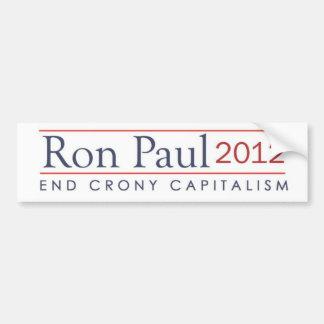 ロン・ポール2012の端のクロニー資本主義 バンパーステッカー