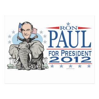 ロン・ポールGOPのマスコット2012年 ポストカード