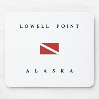 ローエルポイントアラスカのスキューバ飛び込みの旗 マウスパッド