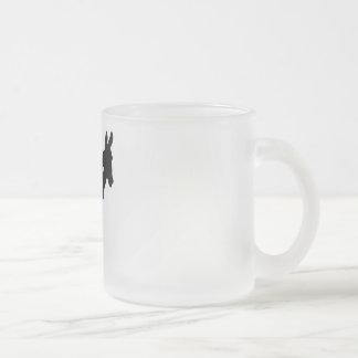 ローカルガーンジーのろばの曇らされたガラスのマグ フロストグラスマグカップ