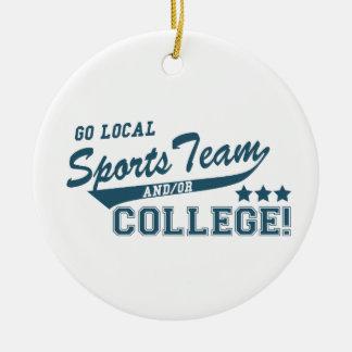 ローカルスポーツチームおよびか大学は行きます セラミックオーナメント