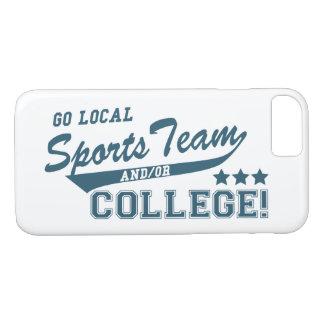 ローカルスポーツチームおよびか大学は行きます iPhone 8/7ケース
