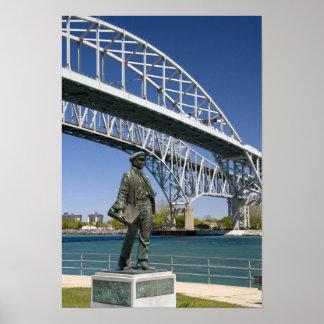 ローカル芸術家によるMinoトーマス・エジソンの彫像 ポスター