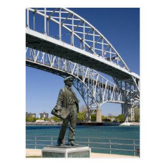 ローカル芸術家によるMinoトーマス・エジソンの彫像 ポストカード