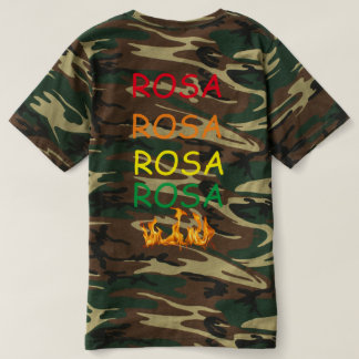 ローザの迷彩柄 Tシャツ