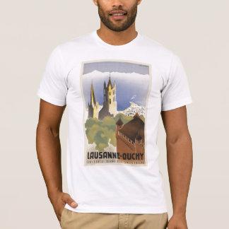 ローザンヌOuchyスイス連邦共和国のヴィンテージヨーロッパ Tシャツ