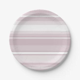 ローズクォーツのピンクのストライブ柄 ペーパープレート
