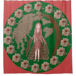 ローズクォーツの妖精の国 シャワーカーテン