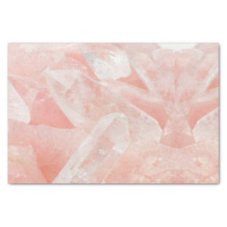 ローズクォーツの水晶 薄葉紙