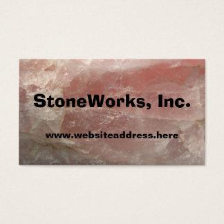ローズクォーツの石、名刺のテンプレート 名刺