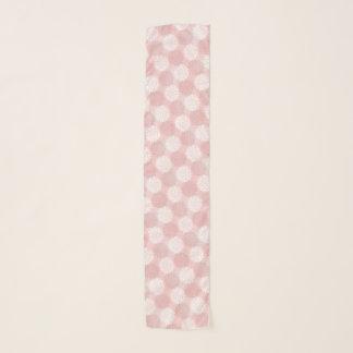 ローズクォーツの菊のグラデーションな花の着物のピンク スカーフ