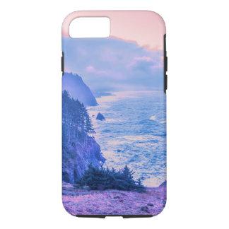 ローズクォーツ及び平静のオレゴンの海岸の日の出 iPhone 8/7ケース