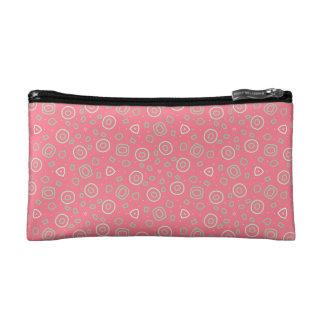 ローズピンクのおもしろいの振りかけます コスメティックバッグ