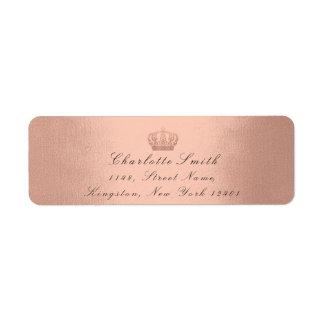ローズピンクのグリッターRSVPの皇太子妃の花嫁の赤面 ラベル