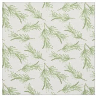 ローズマリーの小枝の草パターン ファブリック