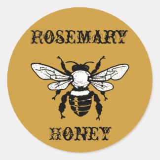 ローズマリーの蜂蜜の蜂のステッカー ラウンドシール
