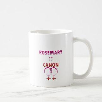 ローズマリーはですキャノン(v2) コーヒーマグカップ