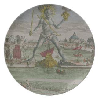 ローデスの彫像のstradの詳細の大国 プレート