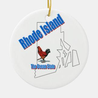 ロードアイランドのクリスマスツリーのオーナメント セラミックオーナメント