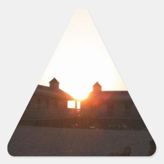 ロードアイランドのビーチ 三角形シール