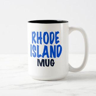 ロードアイランドのマグ、ロードアイランドのおもしろいなギフト ツートーンマグカップ