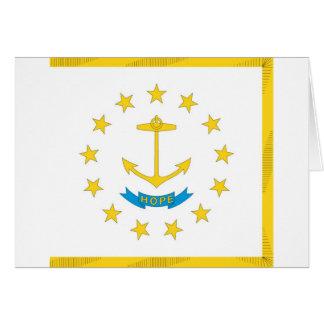 ロードアイランドの公式の州の旗 カード