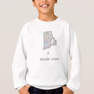 ロードアイランドの地図 スウェットシャツ
