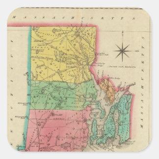 ロードアイランドの地図 スクエアシール
