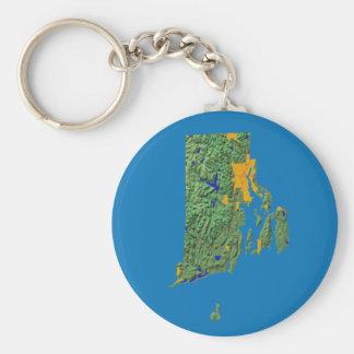 ロードアイランドの地図Keychain キーホルダー