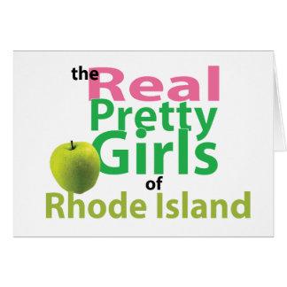 ロードアイランドの実質のかわいらしい女の子 カード