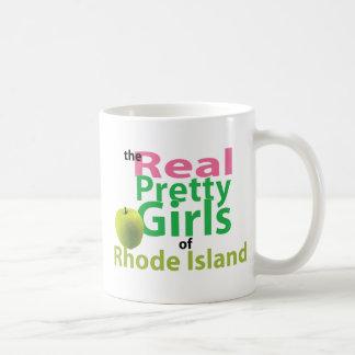 ロードアイランドの実質のかわいらしい女の子 コーヒーマグカップ