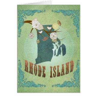 ロードアイランドの州の地図-緑 カード